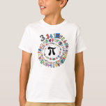 Espiral colorido de dígitos del pi playera