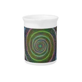 Espiral colorido del fractal jarras de beber