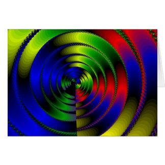 Espiral consciente 1 tarjeta de felicitación