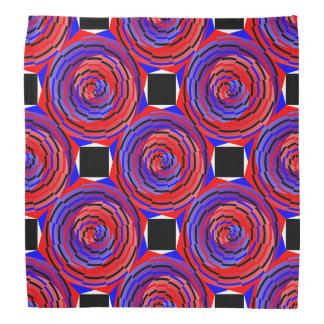 Espiral contrario rojo y azul de Kenneth Yoncich Bandana