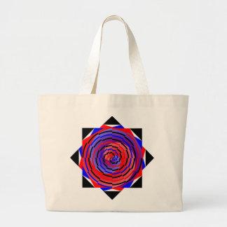 Espiral contrario rojo y azul de Kenneth Yoncich Bolsa Tela Grande