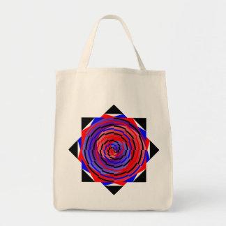 Espiral contrario rojo y azul de Kenneth Yoncich Bolsa Tela Para La Compra