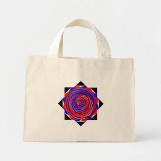 Espiral contrario rojo y azul de Kenneth Yoncich Bolsa Tela Pequeña