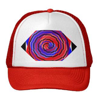Espiral contrario rojo y azul de Kenneth Yoncich Gorro De Camionero