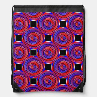 Espiral contrario rojo y azul de Kenneth Yoncich Mochila