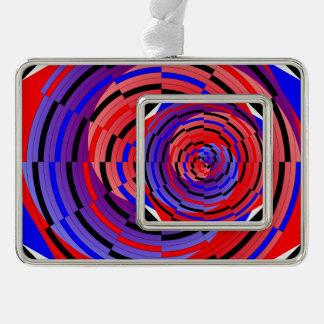 Espiral contrario rojo y azul adornos con foto