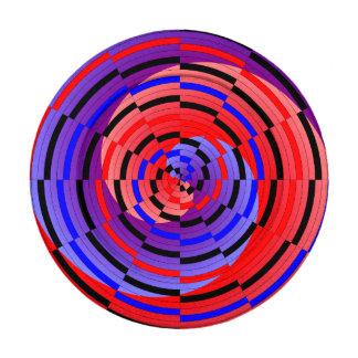 Espiral contrario rojo y azul paquete pequeño de tapa botones