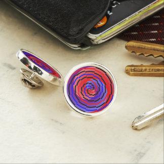 Espiral contrario rojo y azul pin