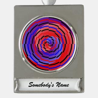 Espiral contrario rojo y azul adornos personalizables
