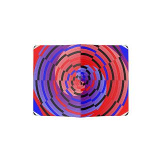 Espiral contrario rojo y azul porta pasaporte