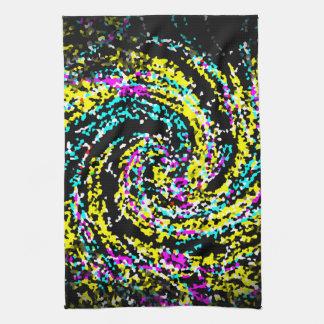 Espiral cristalizado colorido del confeti toalla