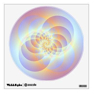 Espiral de cuatro círculos vinilo adhesivo