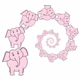 Espiral de elefantes rosados. Historieta de la div Fotoescultura Vertical