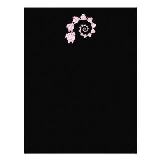 Espiral de elefantes rosados. Historieta Membretes Personalizados
