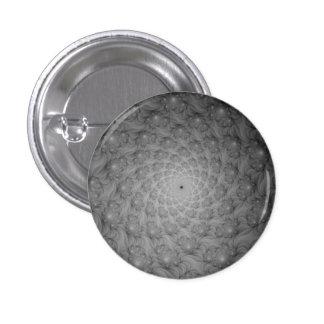 Espiral de espirales en el botón monocromático de pin redondo de 1 pulgada