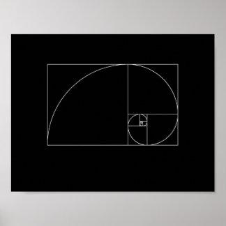 Espiral de Fibonacci Póster