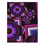Espiral de flores postal