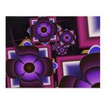 Espiral de flores tarjetas postales