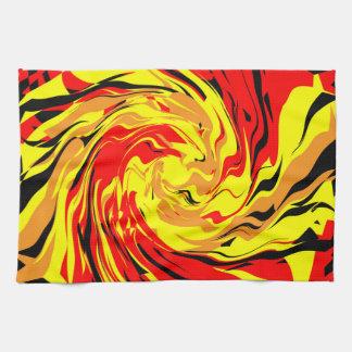 Espiral de la bola de fuego toallas de mano