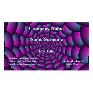 Espiral de la bola en azul y púrpura rosados tarjetas de visita