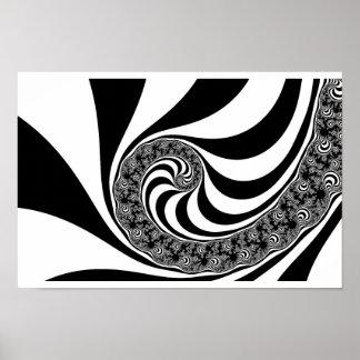 Espiral de la cebra de Mandelbrot Póster