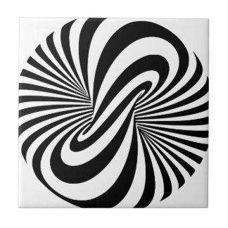 Espiral de la ilusión óptica 3D Azulejo Cuadrado Pequeño