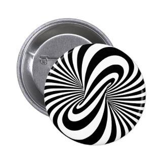 Espiral de la ilusión óptica 3D Pin Redondo 5 Cm
