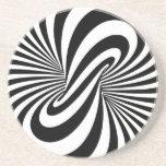 Espiral de la ilusión óptica 3D Posavasos Para Bebidas