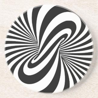 Espiral de la ilusión óptica 3D Posavasos Diseño