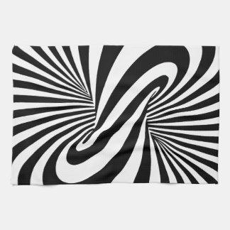 Espiral de la ilusión óptica 3D Toalla De Cocina