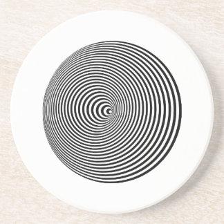 Espiral de la ilusión óptica posavasos cerveza