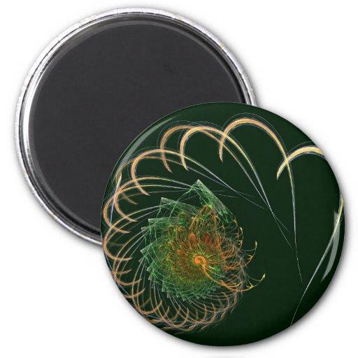 Espiral de la langosta imán redondo 5 cm