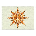 Espiral de la llama de la paz invitación 12,7 x 17,8 cm