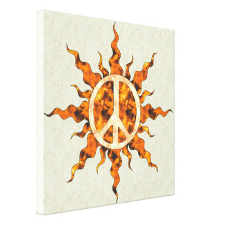 Espiral de la llama de la paz impresión en lona estirada