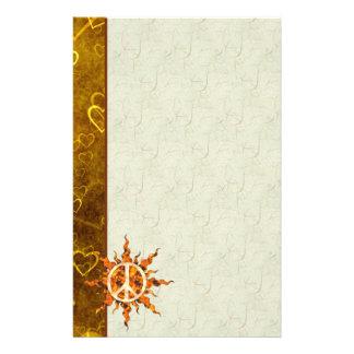 Espiral de la llama de la paz  papeleria de diseño
