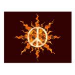 Espiral de la llama de la paz postales