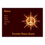 Espiral de la llama de la paz plantillas de tarjetas de visita