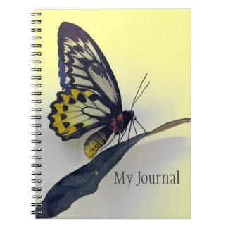 Espiral de la mariposa - cuaderno encuadernado del