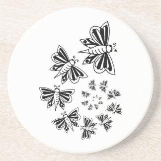 espiral de la mariposa posavaso para bebida