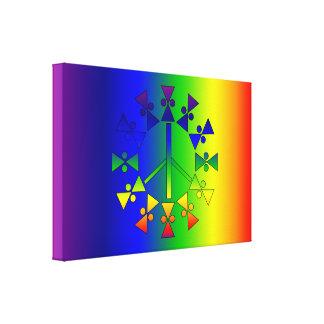 Espiral de la paz del arco iris lienzo envuelto para galerías