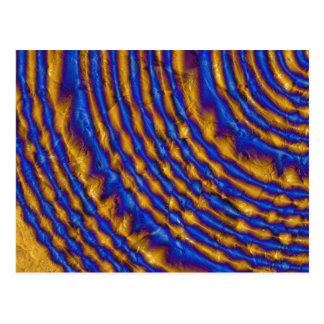 Espiral de la pintura del azul y del oro postal