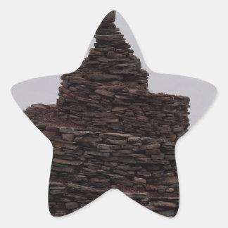 Espiral de la roca pegatina en forma de estrella