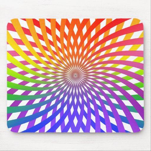 Espiral de la rueda de color: tapete de ratones