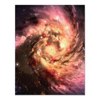 """Espiral de la supernova invitación 4.25"""" x 5.5"""""""