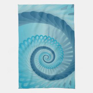 Espiral de la turquesa toalla de mano