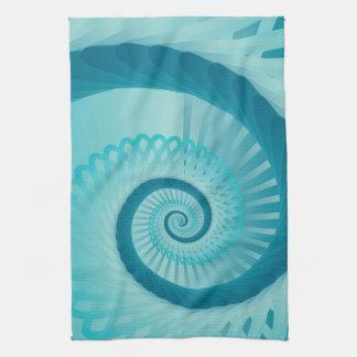 Espiral de la turquesa toallas de mano