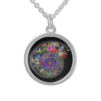 Espiral de la vida collares de plata esterlina