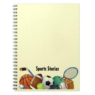 Espiral de los deportes - cuaderno encuadernado