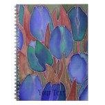 Espiral de los tulipanes azules - cuaderno encuade