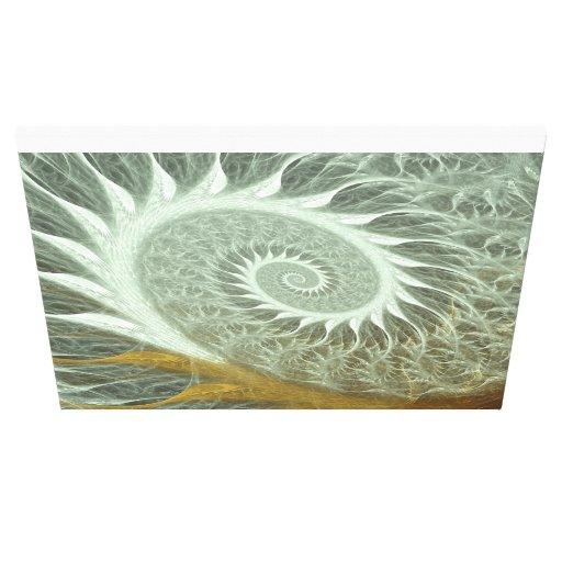 Espiral de oro lona estirada galerias